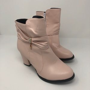 Pale Pink Ankle Boot